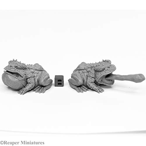Reaper Miniatures: 44024 - Giant Frogs Bones Black Fantasy Miniatures