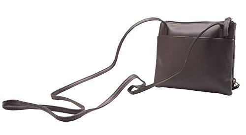 Visconti Atlantic - Handtasche / Umhängetasche für Damen - weiches Echtleder - # 01684 Braun kgNlrYLti