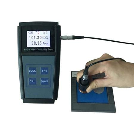 Screen Monochrome - GAO-ECT-101 Eddy Current Conductivity Meter, Monochrome Screen, 60 KHZ to inspirit, Big Typeface, IACS and MS/m Units, High Property Battery, High Capacity, 0.1% IACS Distinguishing Rate