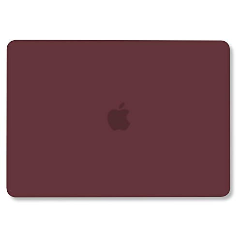 GMYLE MacBook Pro 13 inch Case 2018 2017 2016 Release A1989 A1706 A1708, Smooth Soft Touch Plastic Hard Shell Cover for Newest 13 inch MacBook Pro Case with Touch Bar – Burgundy