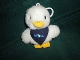 3  Talking Stuffed Aflac Duck Keychain W  Bandana