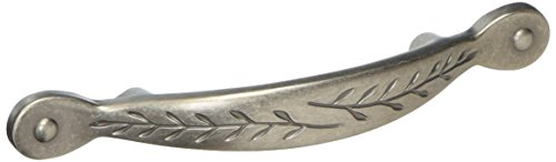 Amerock BP1580-WN Inspirations Leaf Weathered Nickel Cabinet Hardware Handle Pull - 3