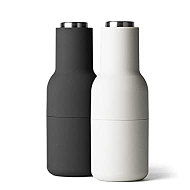 MENU Bottle Grinder with Steel Lid, Ash/Carbon, Set of 2