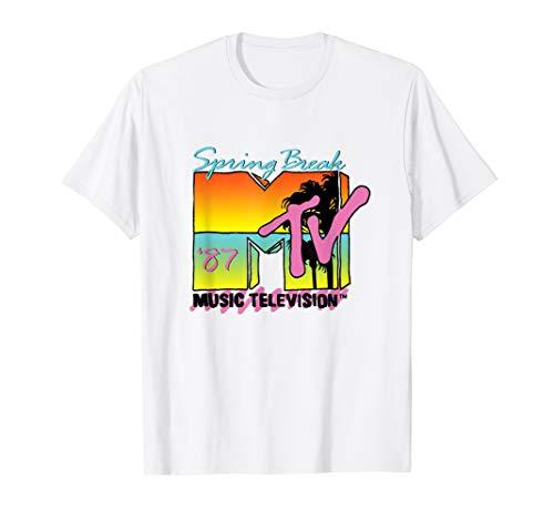 Classic MTV Logo Spring Break 87' T- Shirt, S to 3XL