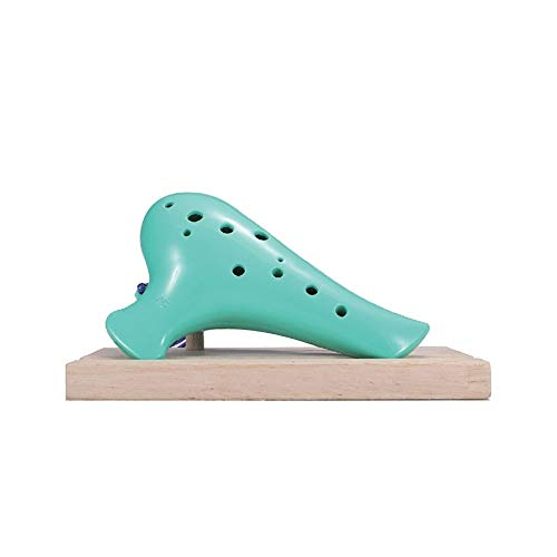 Yougou01 Ocarina, Students Beginners To Get Started With Ocarina, 12-hole Mid-tone C, 12-hole Resin Ocarina, Suitable For Students And Children. Stylish and durable (Color : Turquoise)