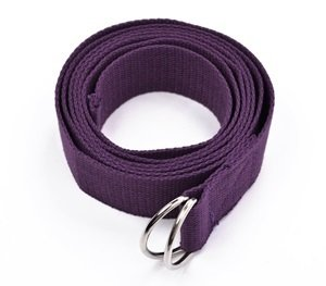 Cosmos ® Cotton Yoga Accessories /Mat Strap with D-Ring for Pilates Stretch, Exercises, Aerobics to Extend Reach, Grasp Limbs (Purple)