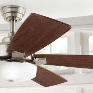 "Home Decorators Collection Cameron 54"" LED Ceiling Fan Brush"