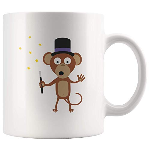 ILC | Magical Monkey | Animal Design 11oz White Coffemug
