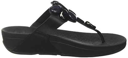Honeybee Chanclas Toe Mujer Negro thong Para Fitflop HOdxwv1qH