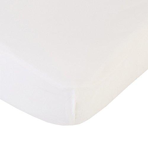 Coyuchi 220 TC Organic Percale Fitted Sheet, King, Alpine White (Tc 220 Sheet)