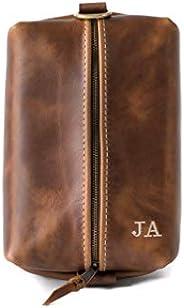 Heirloom Leather Dopp Kit Bag, Groomsmen Gift, Personalized Toiletry Bag, Dopp Kit for Men, Gift For Men