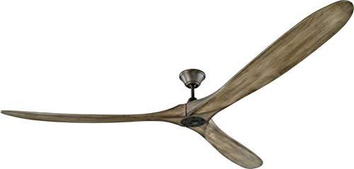 Monte Carlo 3MAVR88AGP Maverick Super Max Modern Ceiling Fan, 88-inch, Aged Pewter with Light Grey Blades ()