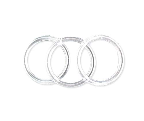 Clear Acrylic Ring - 4 inch Clear Plastic Acrylic Rings 5/16 inch Thick 12 Pieces
