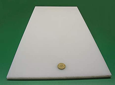 "UHMW Polyethylene Plastic Sheet Natural White 3//16/"" Thick 12/"" Length x 12/"" W"