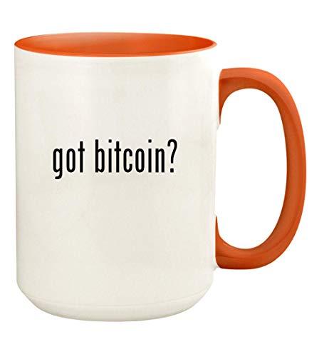 got bitcoin? - 15oz Ceramic Colored Handle and Inside Coffee Mug Cup, Orange