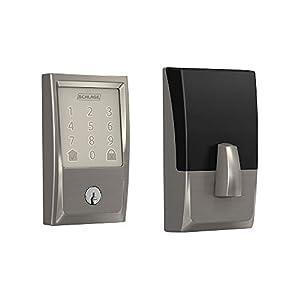 Schlage Lock Company BE489WB CEN 619 Schlage Encode Smart WiFi Deadbolt with Century Trim In Satin Nickel, Lock Doors