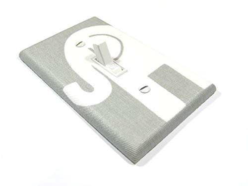 Gray with White Elephant Light Switch Cover