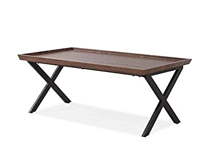 Admirable Amazon Com Wood Coffee Table With Metal X Legs Gmtry Best Dining Table And Chair Ideas Images Gmtryco