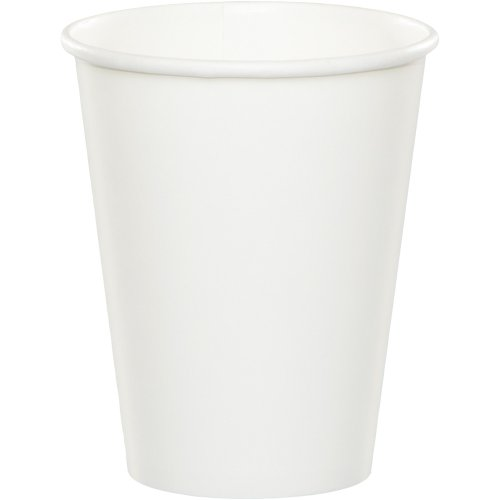 (Creative Converting 240-Count Touch of Color 9-Ounce Hot/Cold Paper Cups, White -)