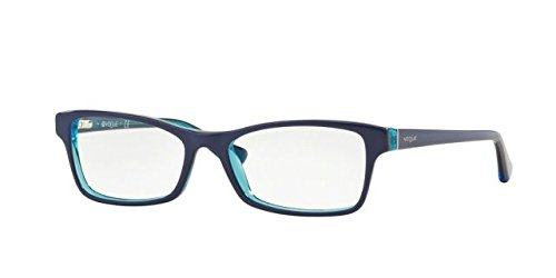 Vogue VO2886 Eyeglass Frames 2278-51 - Bluette/Orange/Azure Tr - Frames Vogue Glasses