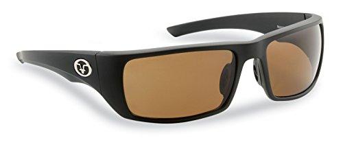 - Flying Fisherman Morocco Polarized Sunglasses, Matte Black Frame, Amber Lenses