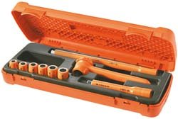 Insulated Socket Wrench Set, 9 pc.