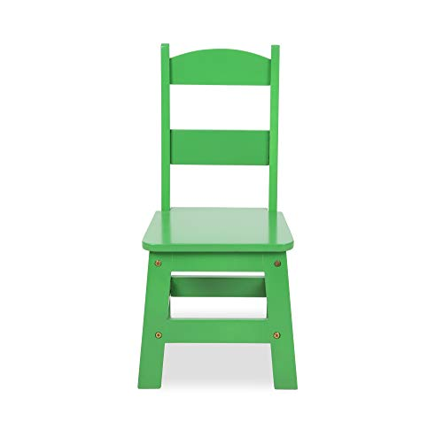 Melissa & Doug Kids Furniture Wooden Table & 4 Chairs - Primary (Natural Table, Yellow, Blue, Red, Green Chairs)