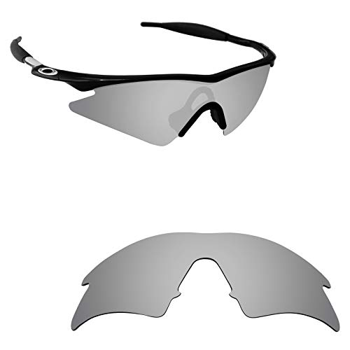Alphax Silver Titanium Polarized Replacement Lenses for Oakley M Frame Sweep