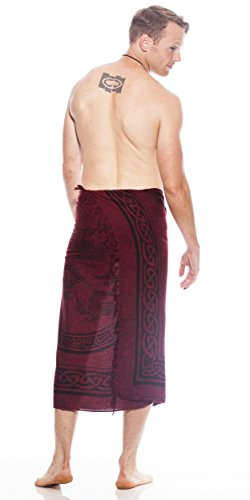 Sarong 1 Sarongs Hommes Bourgogne Celtic World Unicorn In wpIpafqv