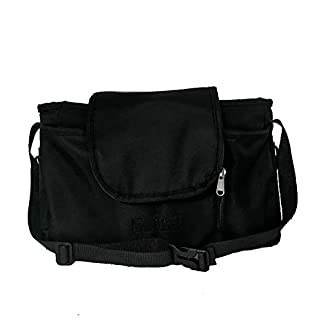 Compact Diaper Bag with Straps for Shoulder, Hang on the Stroller and Cradle, Enough Space, Black, 12 in x 4 in x 8 in (LXWxH)