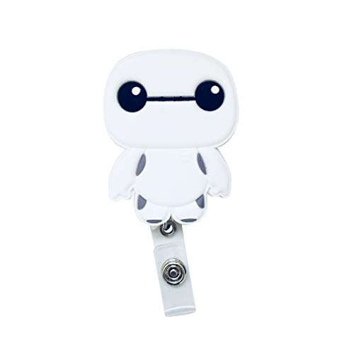 Swivels - Cartoon Retractable Badge Reel - Holder for ID and Name Tag with Alligator Clip (Baymax)