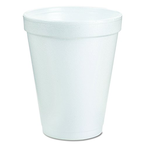 "Dart 8J8 3.2"" Top and 2"" Bottom Diameter, 3.5"" Height, 8 oz White Foam Cup (40 Packs of 25)"