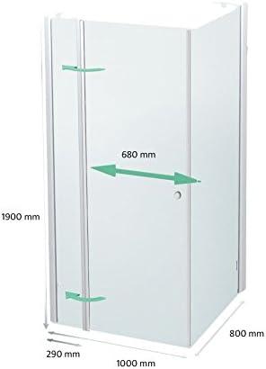 Cabina de ducha 120 x 80 cm, mampara 120 x 80 x 190 cm, Elox, izquierda: Amazon.es: Bricolaje y herramientas