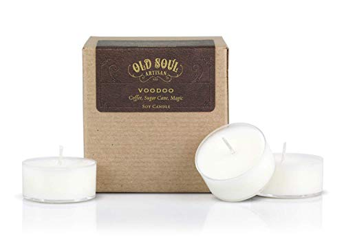 Voodoo - Coffee Scented Soy Tea Light Candles - Inspired by Marie Laveau and New Orleans Magic