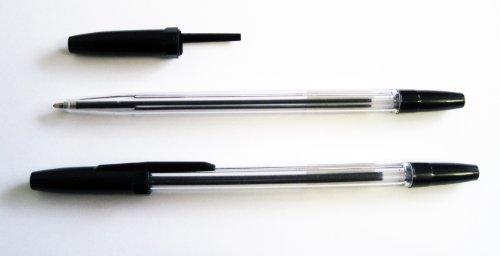 Kugelschreiber Set mit Einwegkugelschreiber - 50 Stück - Kugelschreiber in der Farbe schwarz