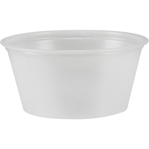 DART Solo Souffles 2 Oz. Plastic Portion Cups - 2 Oz - 2500 / Carton - Translucent - - Portion Plastic Cup ? Souffl