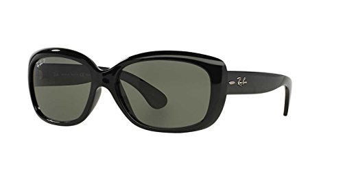 Ray-Ban Womens Jackie Ohh Sunglasses (RB4101) Black/Green Plastic,Nylon - Polarized - - Spectacles Ban Ray