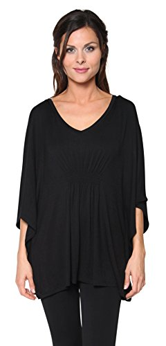 Free Live Womens Smocked V neck