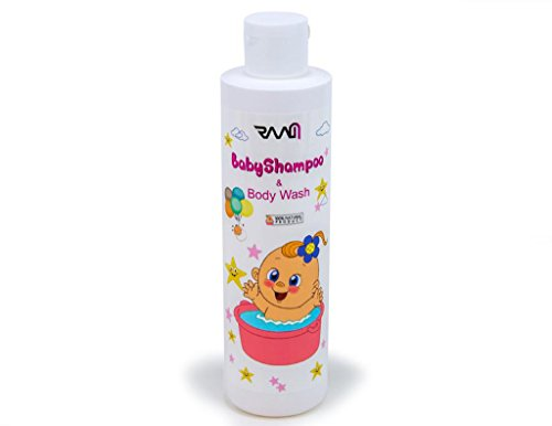 RAAM Baby Shampoo and Body Wash - Tear-Free, Mild and Sweetly-Scented