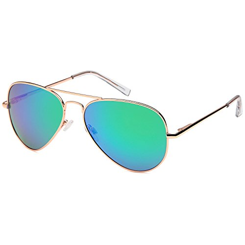 JETPAL Premium Classic Aviator UV400 Sunglasses w Flash Mirror - Sunglasses Flex
