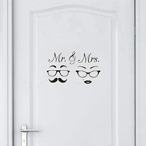 Euone ♛ Wall Sticker, MR & MRS Home Decor Wall Sticker Decal Bedroom Door Vinyl Art Mural]()