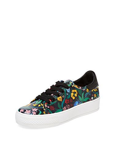 alice + olivia Pemton Low Top Sneaker, Black Multi, US 8.5 / EU 38.5