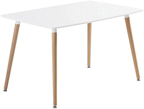 Studio Decor Dinamarca - Mesa de comedor c rectangular con tapa ...