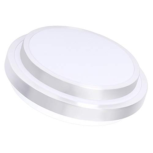 Drosbey 24W LED Ceiling Light, 12in Flush Mount Ceiling Lighting for Kitchen, Bathroom, Bedroom, Hallway, 2000 Lumens, 5000K Daylight White, 180W Incandescent Bulbs Equivalent