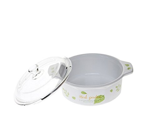 Luminarc France Vitroline Casserole with Glass Cover Cooking Pot (Green Leaf 1.5L)