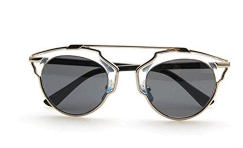 GAMT Fashion Metal Crossbar Aviator Sunglasses Flat Reflective Mirror Cateye Polarized Sunglasses UV400 - Free Sunglasses Wholesale Shipping