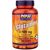 Now Foods L-Glutamine 1500 mg - 180 Tabs 6 Pack