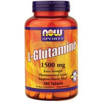 Now Foods L-Glutamine 1500 mg - 180 Tabs 6 Pack by NOW Foods