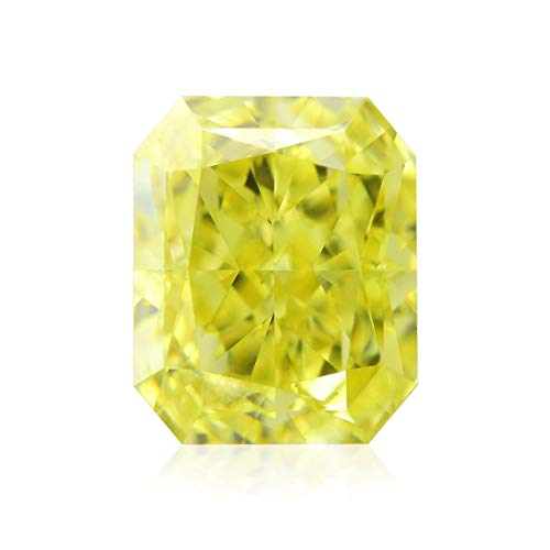 Leibish & Co 0.57 Carat Fancy Intense Yellow Loose Diamond Natural Color Radiant Cut GIA Cert
