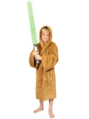 Childrens Boys Fleece Dressing Bathrobe